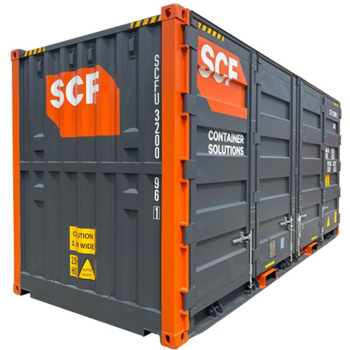 SCF 20ft Double Side Door Container Angle