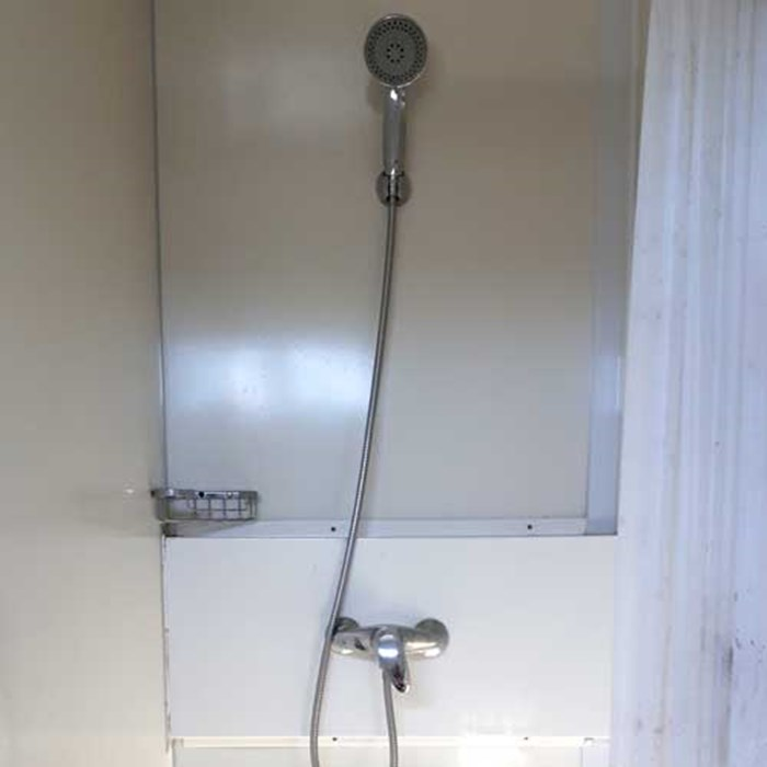 SCF Shower Block. Individual shower head with hot and cold water for comfortable showers