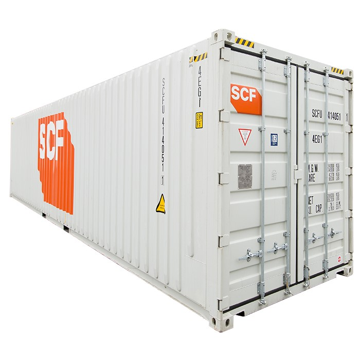 SCF 40ft Shipping Container | End Door Angle