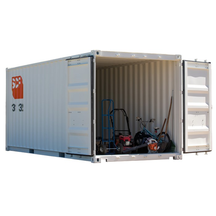 20ft shipping container with garden tools