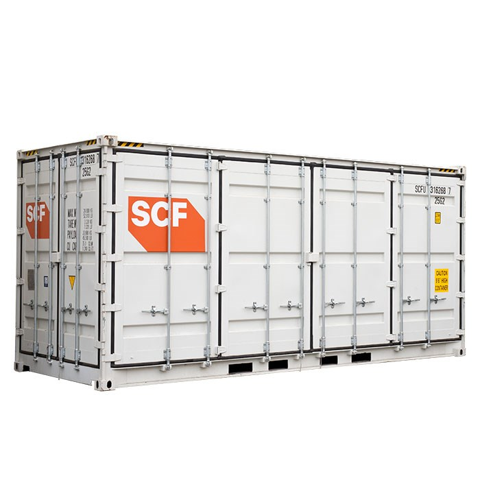 SCF 20ft Single Side Door Shipping Container | Side Doors and End Door Angle
