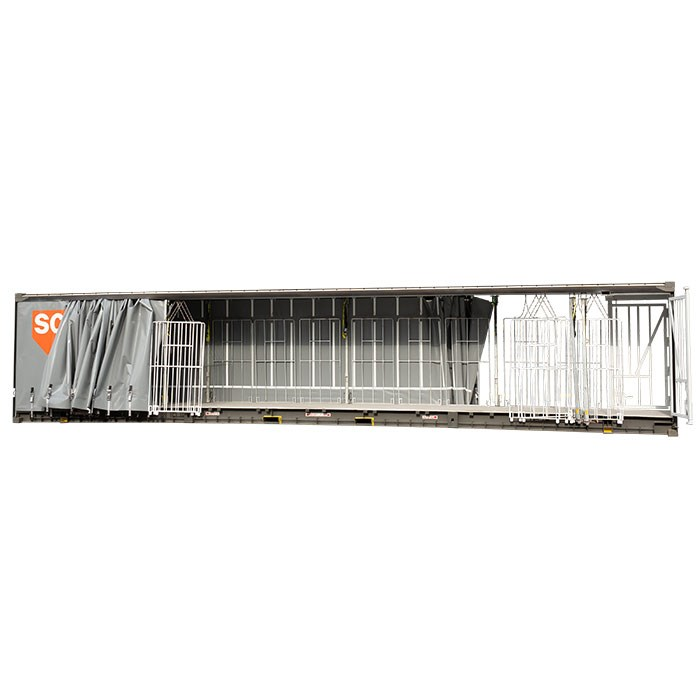 SCF 48ft Curtain Side Container | Open