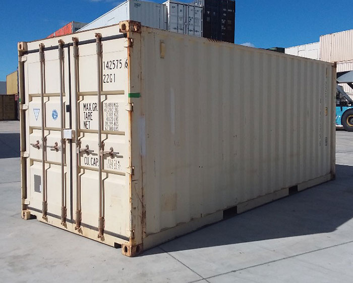 Older, very used shipping container