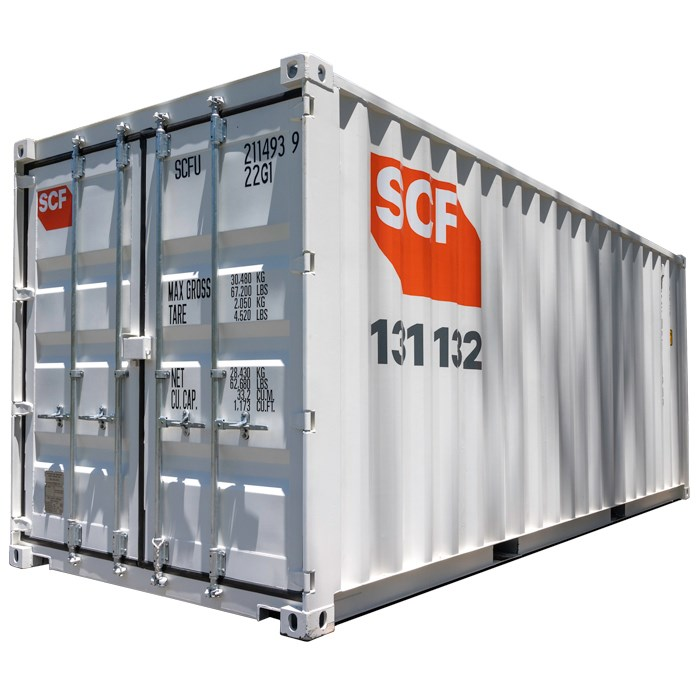 20ft Shipping container in the shade