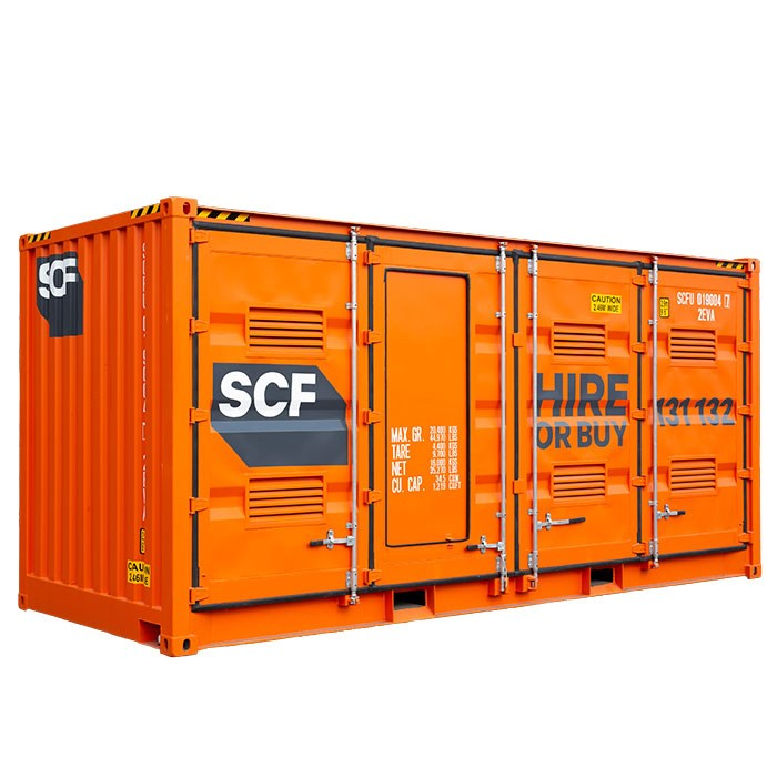 SCF 20ft Double Side Door Dangerous Goods Container Angle
