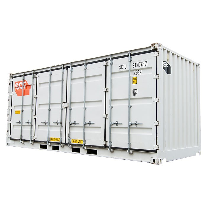 SCF 20ft Single Side Door Shipping Container | Side Doors Angle