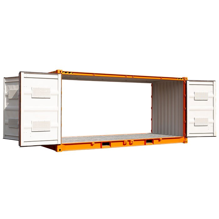 SCF 20ft Double Side Door Dangerous Goods Container | Open Doors